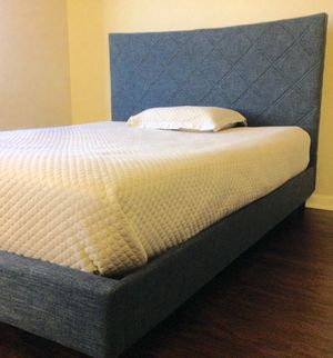 New Diamond Blue Queen Pattern Bed for Sale in Chevy Chase, MD