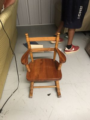 Kid wooden rocking chair for Sale in Houston, TX