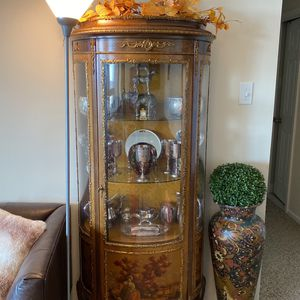 Antique 19th Century Louis Style Vernis Martin Display Cabinet for Sale in Falls Church, VA