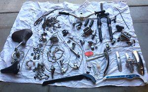 Big Lot Of Vintage Schwinn bike parts as well as deity rock shox etc for Sale in Bountiful, UT