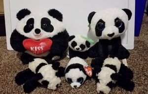 Variety of panda stuffed animals for Sale in Lakewood, CA