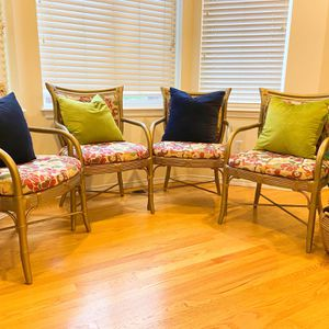 vintage Gold Bamboo Dining Chairs ( Set Of 4) for Sale in Des Moines, WA
