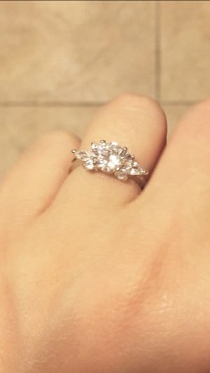 White gold plated ring size 8 for Sale in Corona, CA