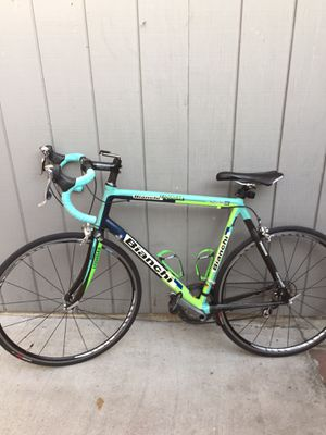 Rare original Italian Bianchi bike, carbon and super light aluminum frame for Sale in Glendale, CA
