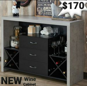 Industrial Wine Rack Buffet in Black and Cement Finish for Sale in Riverside, CA