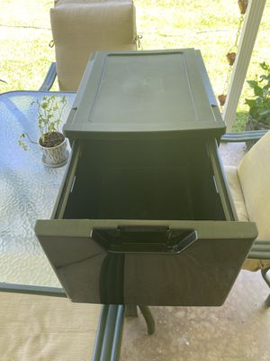 Plastic stackable filing drawer. for Sale in San Antonio, TX
