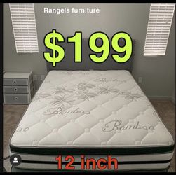 """BRAND NEW """"LUXURY EURO PILLOW TOP BAMBOO"""" MATTRESSES 💯 COLCHONES NUEVOS PILLOW TOP 💯( LIMITED TIME ONLY) 5 year factory warranty ! 💥12 inches t for Sale in Baldwin Park,  CA"""