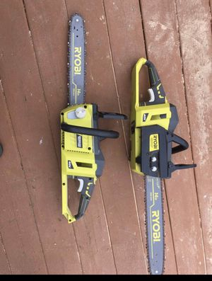 2 RYOBI 40v brushless chainsaws. No batteries for Sale in Lacey Township, NJ