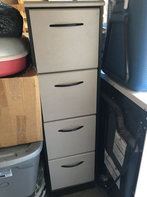 Black and gray 4-drawer filing cabinet for Sale in Scottsdale, AZ