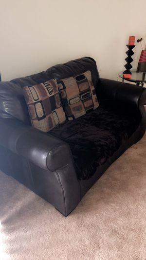 Chocolate Loveseat & sofa for Sale in Hyattsville, MD