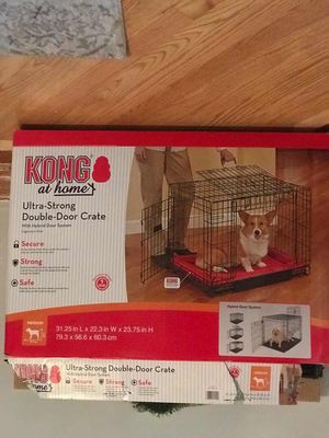 Like New Dog Crate- Kong Double Door for Sale in Chicago, IL