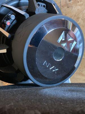 "12"" NVX 2000 watt subwoofer Carbon Glass cone for Sale in San Bernardino, CA"