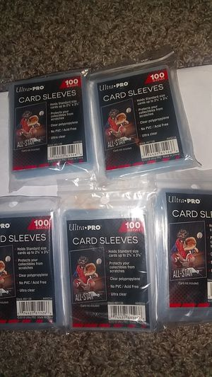 Ultra pro card sleeves 100 per pack for Sale in Harlingen, TX