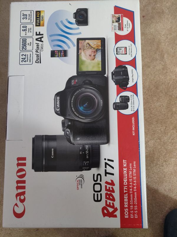 Canon T7i- Dual lense pack, Brand New Seal Pack