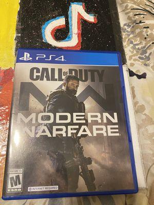 PS4 call of duty modern warfare for Sale in San Dimas, CA