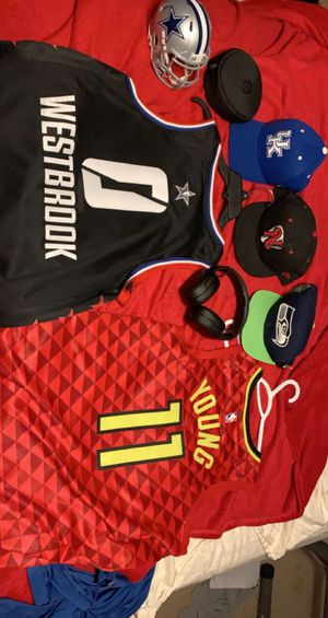 Jerseys headphones and hats for Sale in College Grove, TN