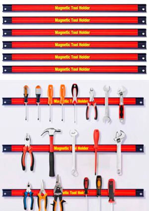 New in box 6 pcs 18 Inches Long Magnetic Strips Kitchen Knife Tool Wall Mount Powerful Magnet Storage Organizer Commercial Grade TOOLS NOT INCLUDED for Sale in West Covina, CA