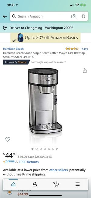 Stainless steel coffee maker for Sale in Washington, DC