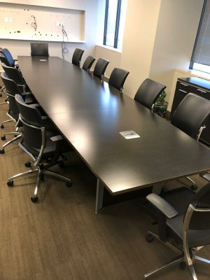 $2000 OFFICE CONFERENCE TABLE 18 FT BY TEKNION for Sale in Houston, TX