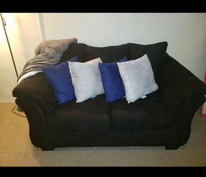 Two black sofas and a chair for Sale in Cleveland,  OH