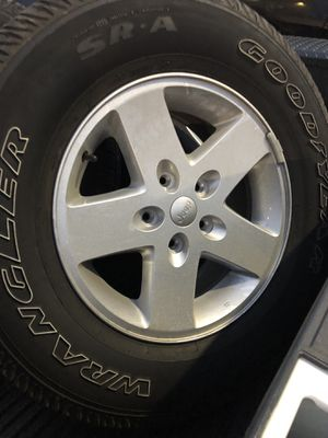2018 Jeep Wangler Sport Unlimited Tires. 4 USED ONE NEW for Sale in Starkville, MS