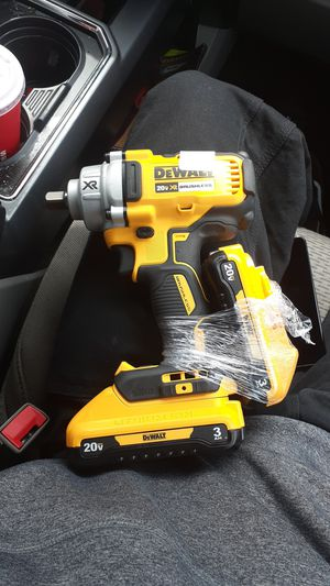Dewalt torque wrench impact drill and 2 20v lithium ion 3ah batteries for Sale in West Linn, OR