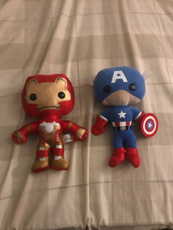Marvel Captain America and Iron Man Plushies