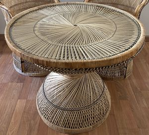 Rattan Dining Table for Sale in Gig Harbor, WA