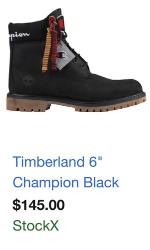 """Timberland 6"""" Champion black and uggs grey boot men's for Sale in Braselton, GA"""
