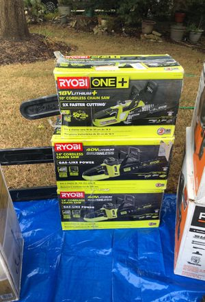 Ryobi 14 inch or 10inch electric chainsaw brand new in the box for Sale in Canton, GA