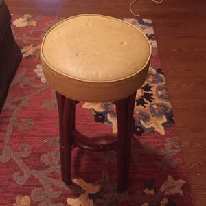 Stool - Wicker and Vinyl for Sale in Austin, TX