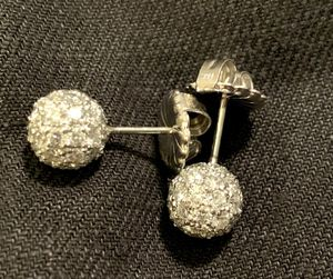 Custom Designed 14K White Gold Diamond Earrings - Appraised w/Paperwork for Sale in St. Charles, IL
