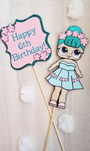 LOL Doll Birthday Glitter Cake Toppers for Sale in Chula Vista, CA