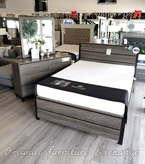 $699 WE DELIVER! BRAND NEW QUEEN BED FRAME DRESSER AND MIRROR for Sale in Oviedo, FL