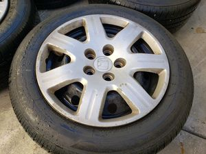 Honda accord rims and tires, 215/55/16, 5x114.3 for Sale in Riverside, CA