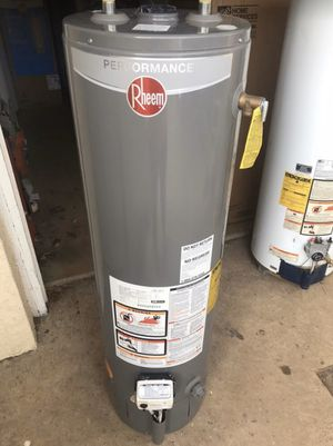 Rheem 40 gallon gas hot water heater tank. Great condition tall water heater. Still has 3 year manufacturer warranty Can deliver or install for a add for Sale in Jenkintown, PA