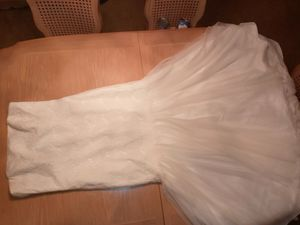Galina wedding dress size 14 with belt and Veil for Sale in Tampa, FL