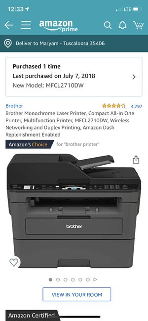 Laser Printer, Brother for Sale in Tuscaloosa, AL