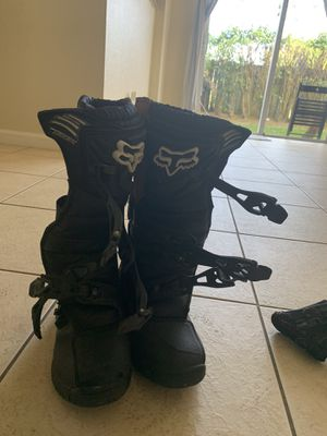 Fox dirt bike boots size 8 for Sale in Riviera Beach, FL