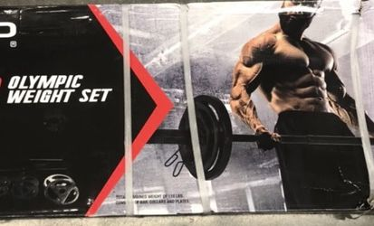 CAP Olympic Weight Set Cast Iron Grip Plates 110 lb Brand New for Sale in Fairburn,  GA