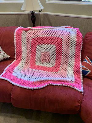 Pink handmade blanket for Sale in Edmonds, WA