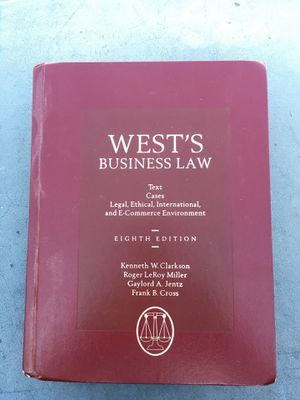 West's business law 8th edition for Sale in Long Beach, CA