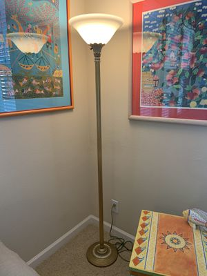 GOLD FLOOR LAMP for Sale in Irvine, CA