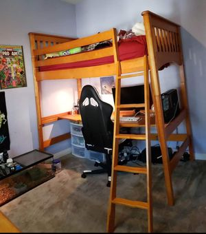 Twin loft/bunk study bed and dresser for Sale in San Diego, CA
