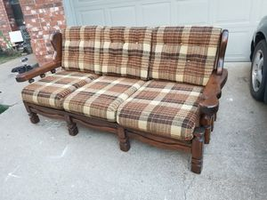 Solid wood frame sofa for Sale in Tulsa, OK