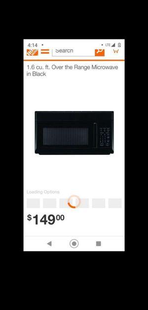 1.6 cu. Ft. Over the range microwave for Sale in Jonesboro, GA