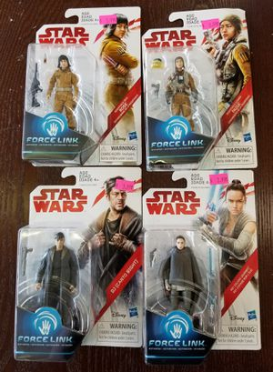 NEW Disney Star Wars Force Link Rose Paige DJ & Rey Action Figure Lot: NJFT Kids for Sale in Burlington, NJ