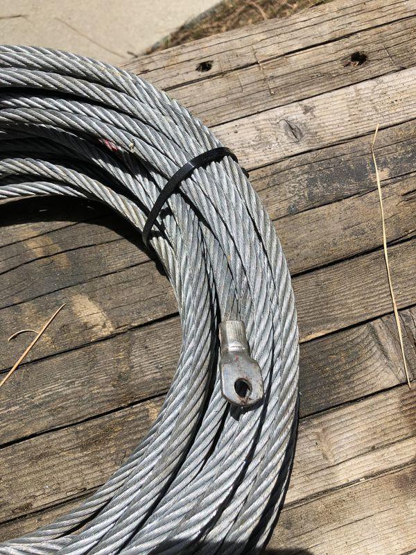 Smittybilt Steel winch line with a Half- Link Clevis Safety Latch Swivel Winch Hook