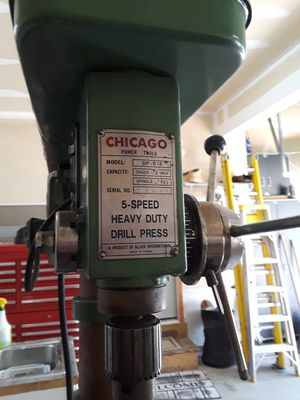 Chicago Power Tools 5 speed drill press for Sale in Bordentown, NJ