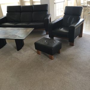 Black Leather Furniture Set for Sale in Houston, TX